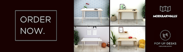 Fre Giveaway - Free Pop Up Desk With Every Order | ModularWalls