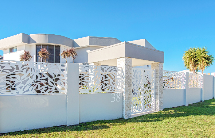 Decorative Panels with Gate