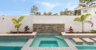 VogueWall pool wall with external post tops