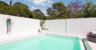 VougeWall pool wall with flush post tops
