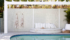 Pool feature Wall using SlimWall - Three Birds Renovations House 14