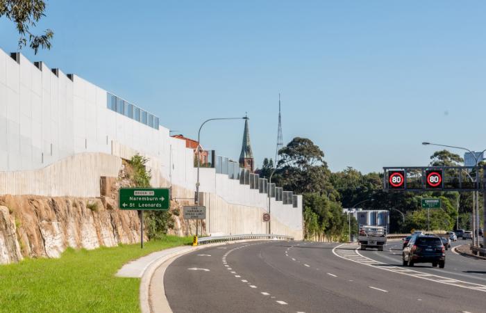 EndroMax Sound Barrier Wall - Warringah FreeWay NSW