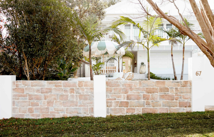 ModularWalls EstateWall customised with stone cladding - Three Birds Renovations House 14