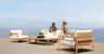 Modern Outdoor Furniture - Harbour Outdoor - Breeze Teak Sofa