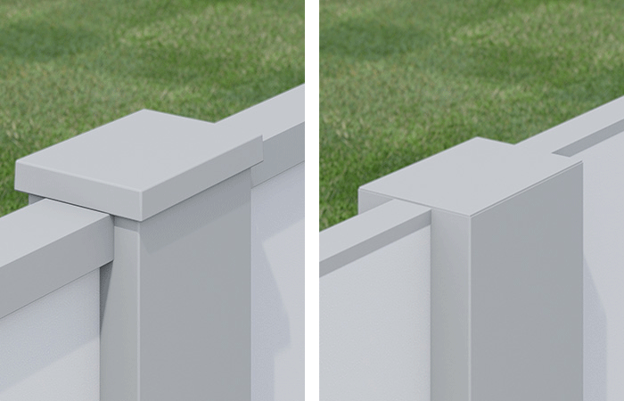 External and Flush Fence Posts Caps - EstateWall