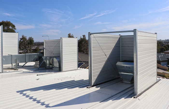 AcoustiSorb Acoustic Enclosure for Woolworths Rooftops | ModularWalls