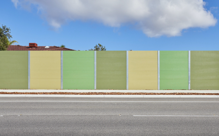 EnduroMax Road Noise Barrier with Integrated Retaining for Main Roads WA | ModularWalls