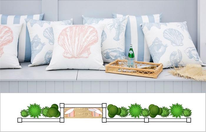 Built-In Outdoor Seating - Setback Bays - Fence Design Trends | ModularWalls