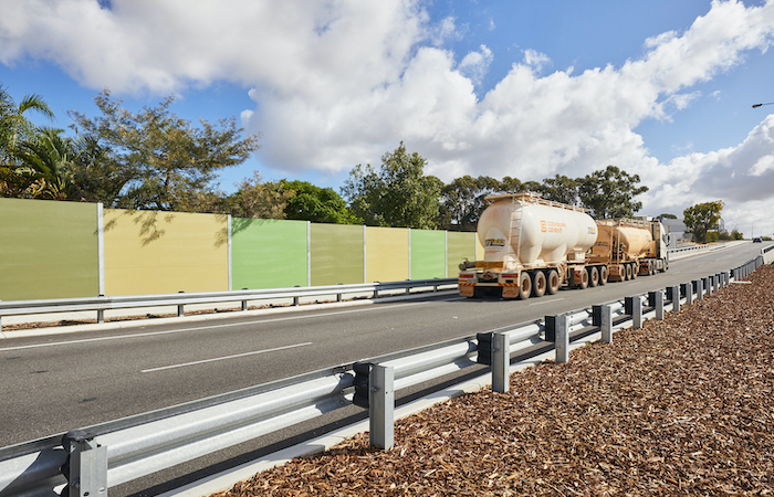 EnduroMax Road Noise Barrier with Integrated Retaining for Main Roads WA | ModularWalls
