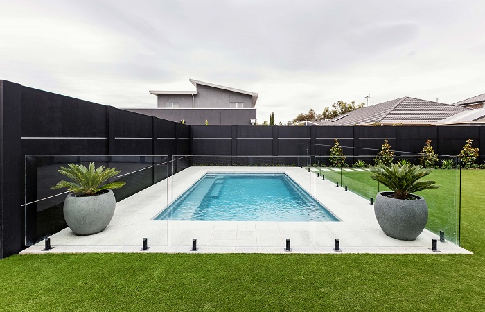 Pool Feature Wall - Expressed Joint | ModularWalls