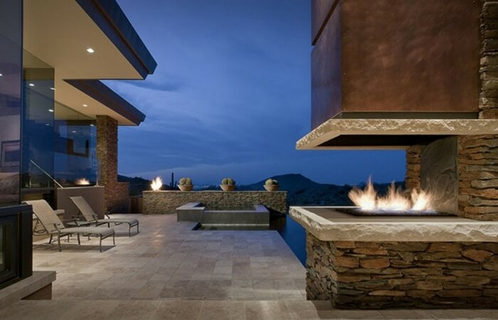 Custom Outdoor Fireplaces - Design Trend of the Month | ModularWalls