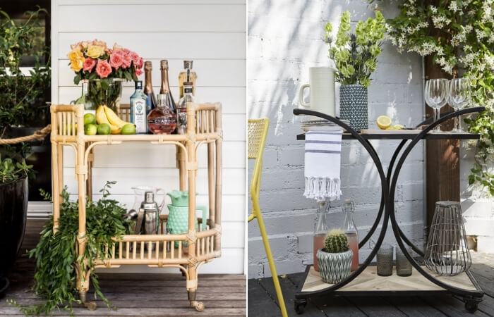 Outdoor Bar Carts - Design Trend of the Month | ModularWalls