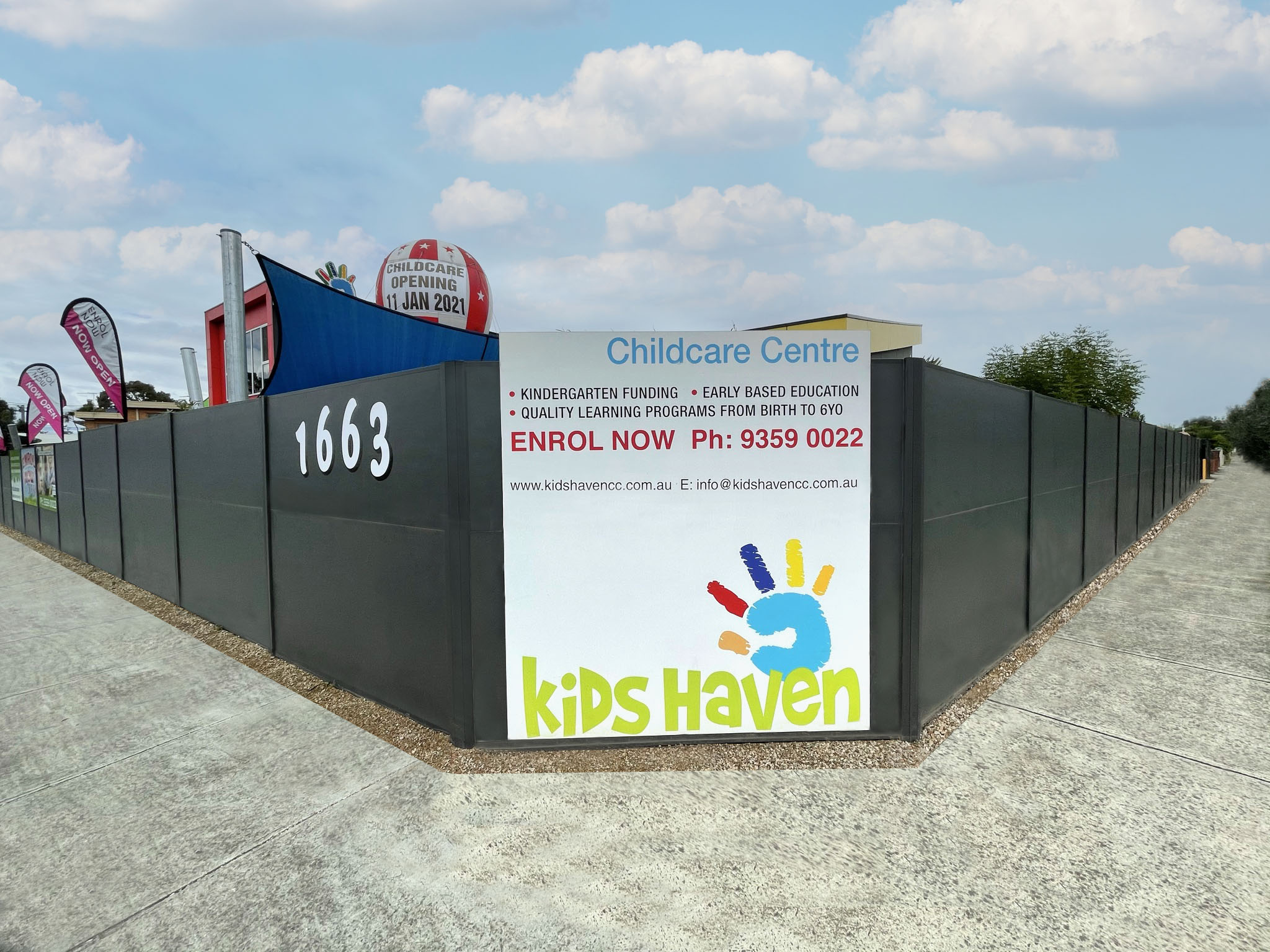 SlimWall for Kids Haven child care, Campbellfield, VIC