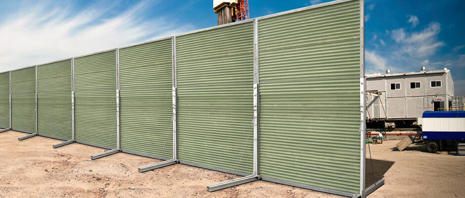 Commercial Temporary Noise Reduction Fencing | ModularWalls