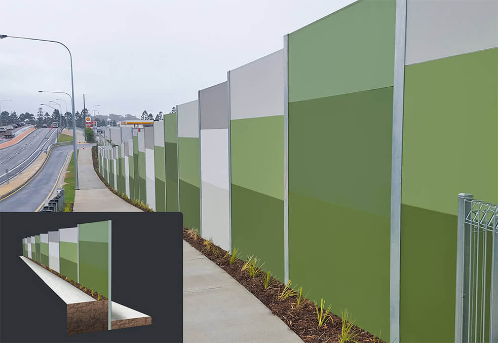 GuardianWall with integrated retaining for Coles, Benowa, QLD