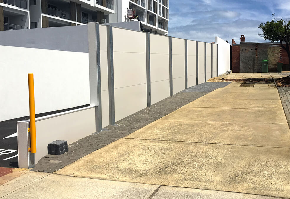 GuardianWall with integrated retaining for project in Wembley, WA