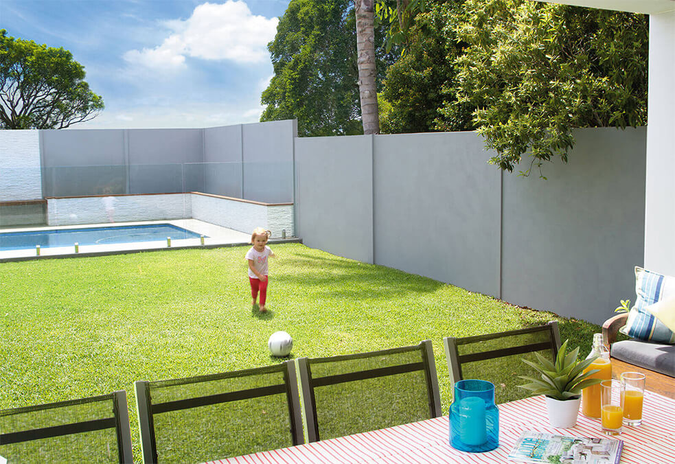 Backyard boundary premium fencing