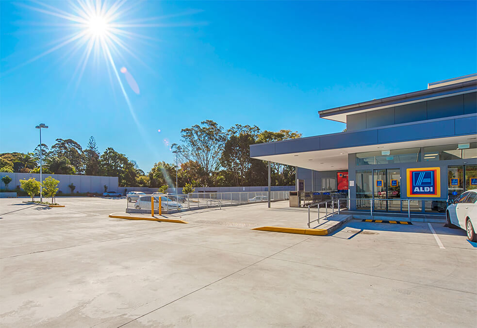 Aldi Shopping Centre, Goonellebah, NSW