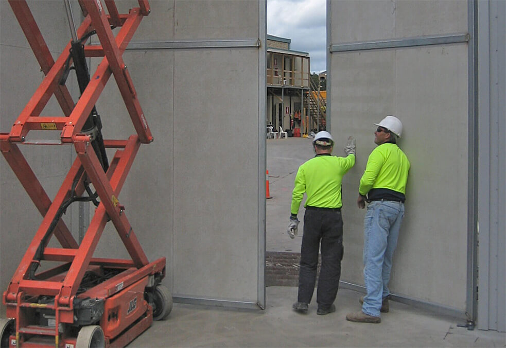 Solid panel gate for Desalination Plant, NSW