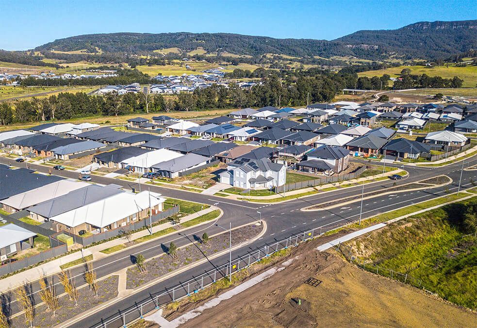EstateWall for multiple lots in Calderwood Valley, NSW