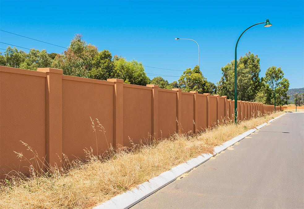 Boundary wall for new WA development