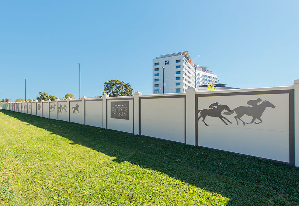 EstateWall with laser-cut design for Warwick Farm Racecourse - NSW