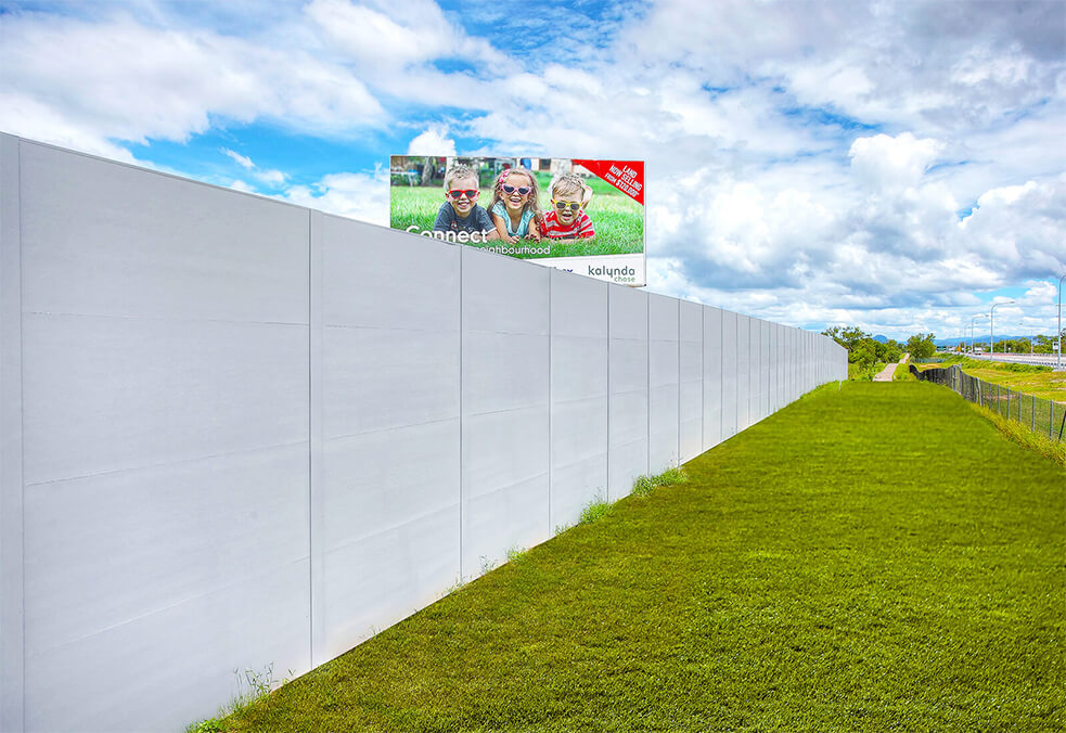 Boundary noise wall for new development - Townsville, QLD