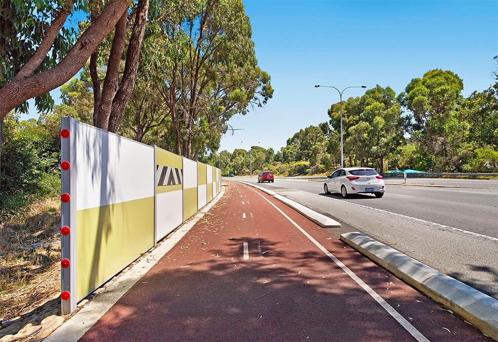 Roadside boundary wall, Perth WA