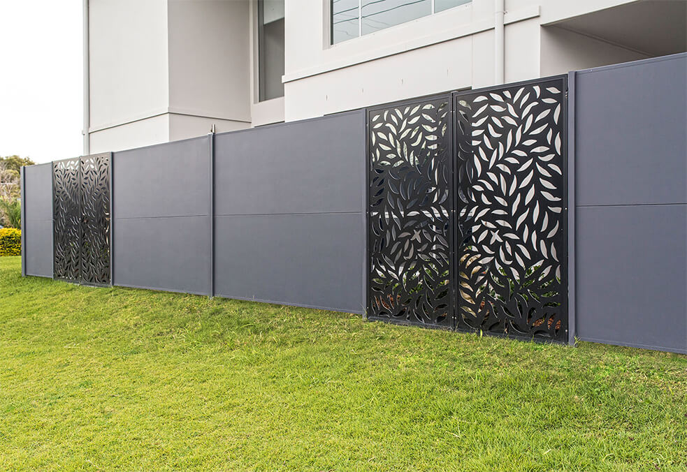 Side wall with full panel laser cut infills