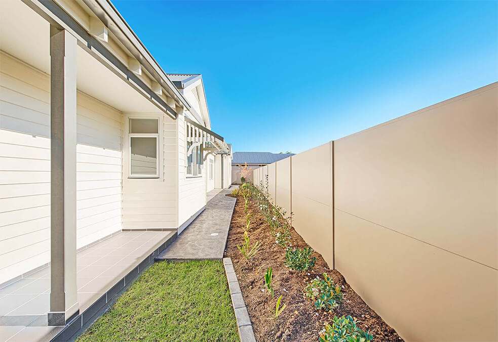 Premium fencing boundary wall with integrated retaining