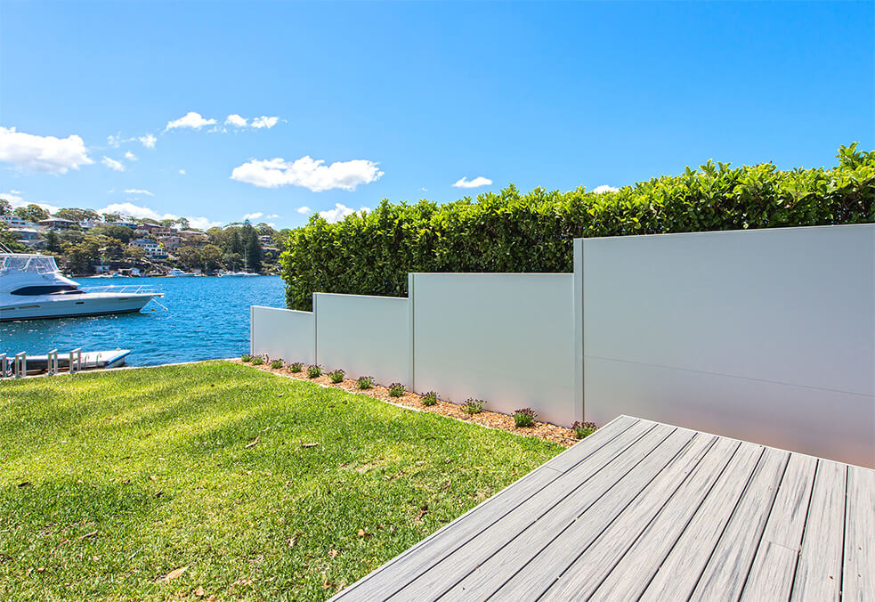 Residential Waterfront Boundary Walls | ModularWalls