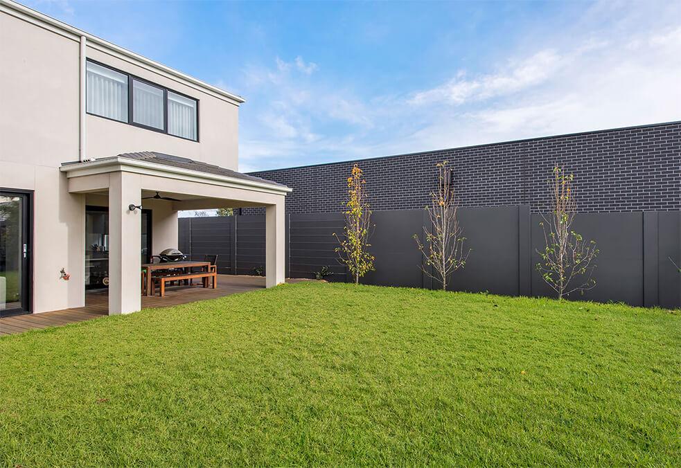 Backyard boundary wall
